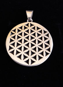 Silver pendant flower of life
